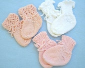 Three Pair of Cotton Girly Booties 3 Months