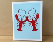 Lobster Love Card