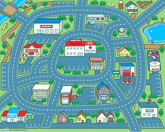 custom listing for inbugsdrawers driving around town car play mat for kids 50
