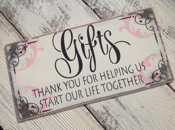 Thank You Sign For Wedding Gift Table : Items similar to Wedding sign, gift table, thank you on Etsy