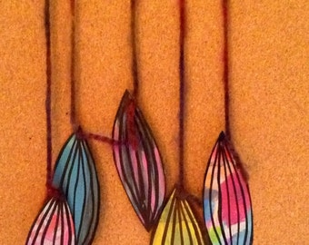 Painted Feathers Wall Hanging