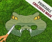 Crocodile Mask | Reptile Party Mask | Lizard Lion Mask