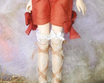 jiajiadoll  orange red bowknot shorts fit momoko or blythe or misaki dorandoran