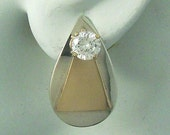 Earring Jackets Sterling Silver and 14K Gold Filled Combo 14K Gold Filled Triangle on Smooth Sterling Silver Pear JTTPTSM