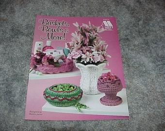Annie's Attic--Crochet Baskets, Bowls & More--Pattern Booklet--Crochet--1998
