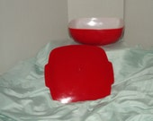 Vintage 1940's Cheery Red Pyrex Cassarole with Lid