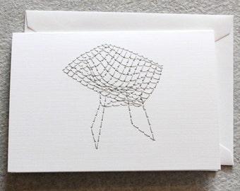 Bertoia Diamond Chair (Stitched Card)