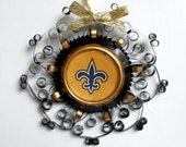 New Orleans Saints Recycled Quilled Aluminum Can Ornament