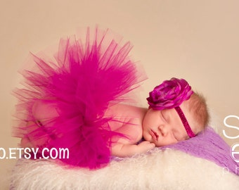 The Wild Berry Tutu, newborn/Infant Baby Girl Tutu, newborn photo prop, baby girl gift, newborn, baby tutu, pink tutu, baby skirt, newborn