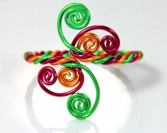 Twisted Spirals Adjustable Bracelet