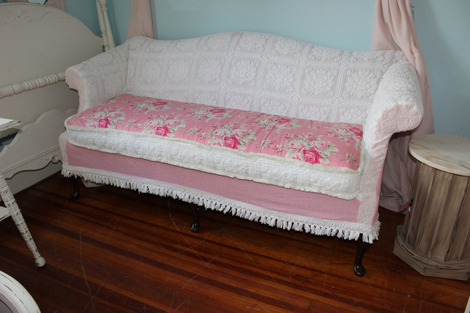 patchwork as discussed shabby chic sofa couch slipcover. Black Bedroom Furniture Sets. Home Design Ideas