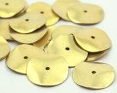 25 Raw Brass Round disc  (16 mm)     A0498