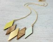 Oslo Necklace, geometric necklace, signature necklace, Scandinavian design