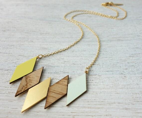 Oslo collier, collier géométrique, collier signature, design scandinave