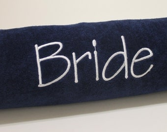Bride Embroidered Beach Towel