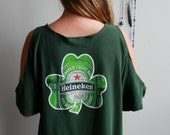 Green Heineken Beer Print...
