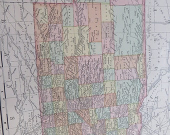 1901 State Map Nebraska - Vintage Antique Map Great for Framing 100 Years Old