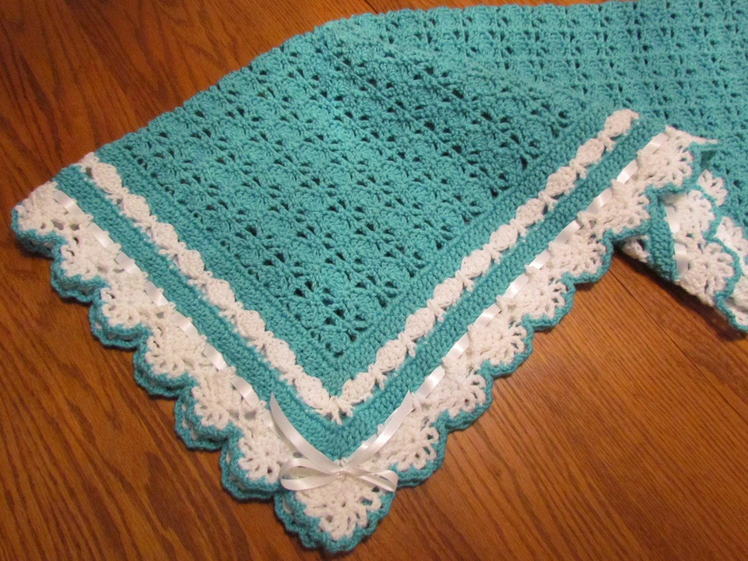 Crochet Baby Blanket Heirloom Lace Boutique Quality Baby