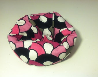 Cell Phone Bean Bag Chair or Kindle Kouch (eReader Rest) Pink White Gray Black Half Circles