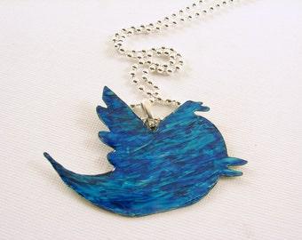 Twitter Bird Pendant Necklace