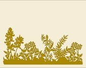 Flower Border design -  A zipped file containing svg, gsd, dxf, eps,ptl formats