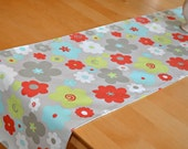 Floral Table Runner: Buttercup Harmony - Grey, Red, Blue, Lime,  Shower, Wedding, Banquet, Party, Graduation