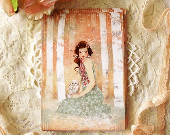 Greeting card - Mademoiselle Snow