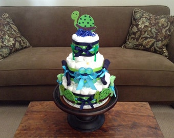 turtle diaper cake baby shower centerpiece other sizes toppers and