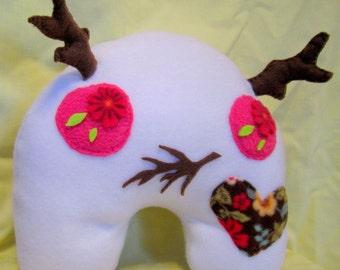 Plush Monster - Stuffed Antler Woodland Whimsical Designer Doll Plushie Toy