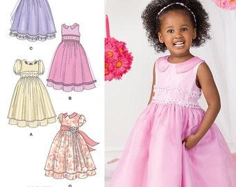 SEWING PATTERN / Make Girls Fancy Dress / Flower Girl / Toddler - Child Sizes 1/2 to 3