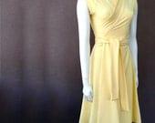 Long organic wrap dress with shawl collar, handmade dress, long maxi dress, made in Canada, organic women's clothes