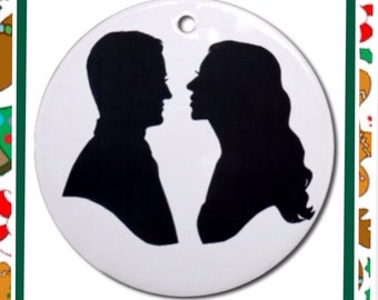 Custom Silhouette Ornament Two Subjects