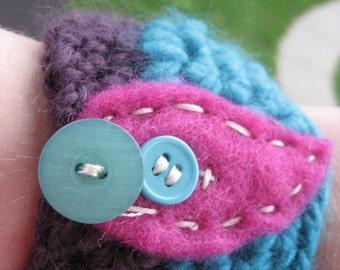 Blue and Purple Wrist Cuff wcu/13/13