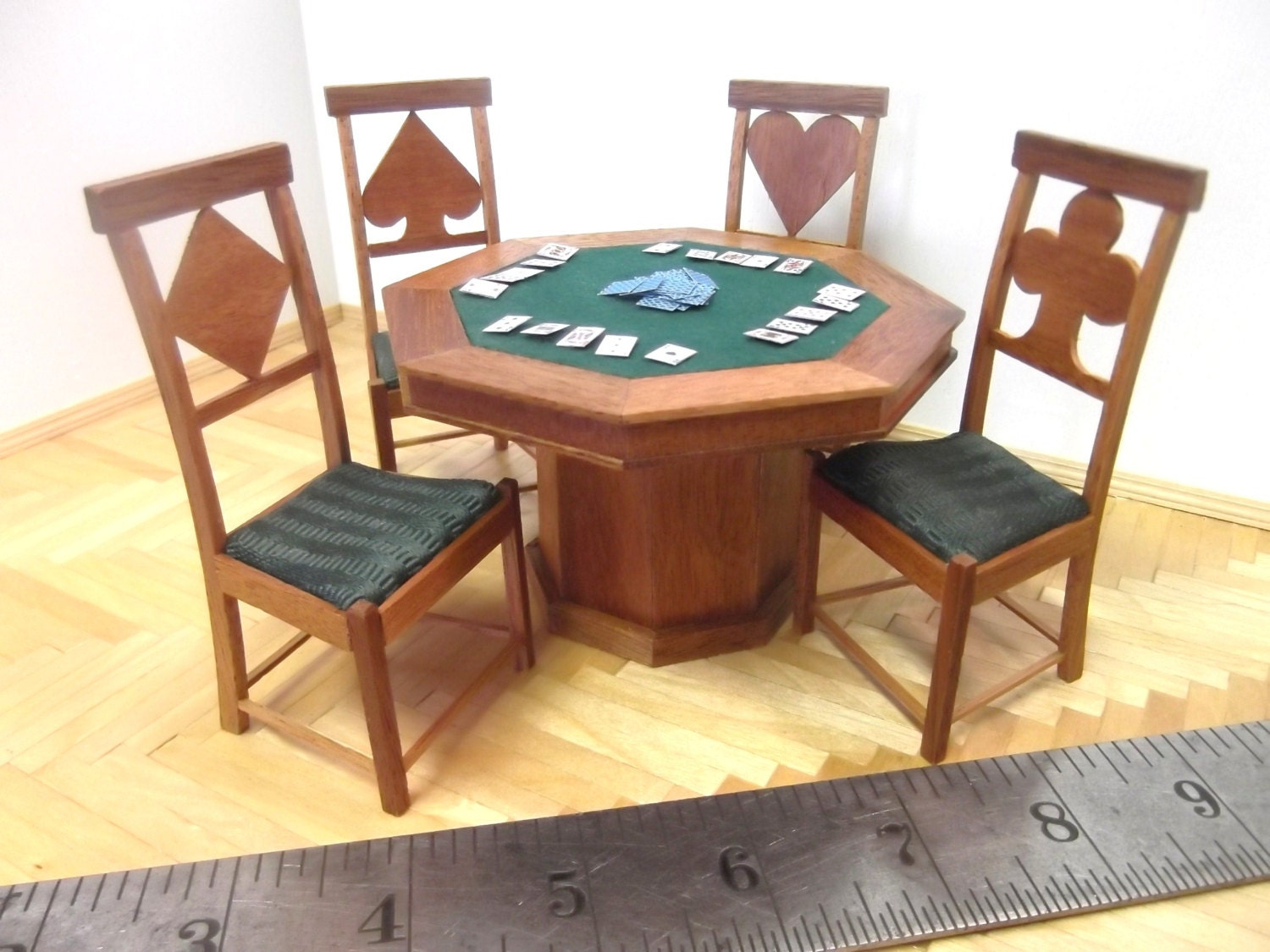 Miniature Poker Table and Chairs Set