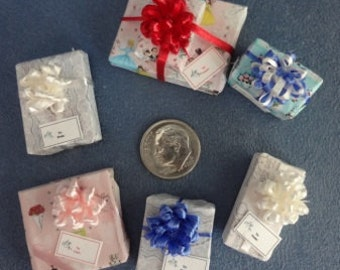 Six Assorted Mini Gift Packages for Wedding - set 2
