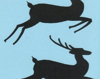 Lot of 2 Silhouette Reindeer #2 Paper