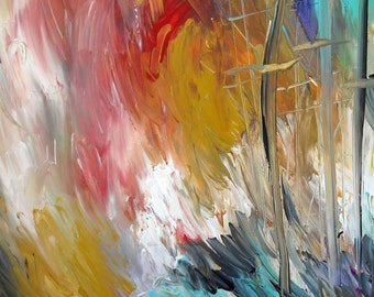 Tempest original painting art mixed media