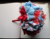 Vintage Fabric Bouquet Circus Theme * Vintage Wedding Clowns * Themed Weddings * Handmade Vintag e Flowers