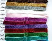 YOU CHOOSE - Glitter Elastic Interchangeable Headbands - Pick 5