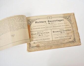 Richters Bauvorlagen Nr. 4 - Dr. Richters Art Institute Building Blocks Plans no. 4 - 1920s