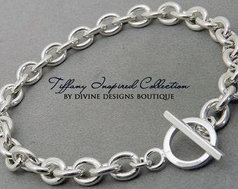 Chain Bracelet - Sterling Silver Chain Bracelet - Mothers Jewelry