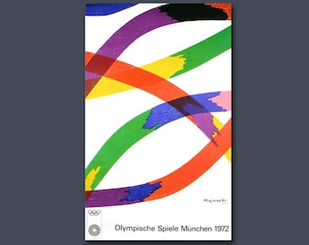Lithography, Art Poster Olympic Games 1972 Munich