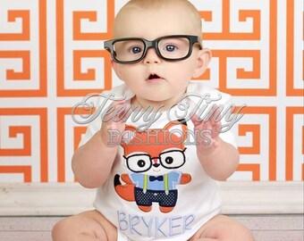 Nerdy Fox Shirt ~ Fox Shirt ~ Baby Fox Shirt ~ Boys Fall Shirt ~ Halloween Outfit ~ Baby First Halloween Shirt ~ black Glasses Shirt