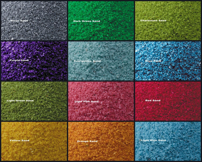 Crushed Stone Colors : Colorful sand vase filler granuels terrarium crushed