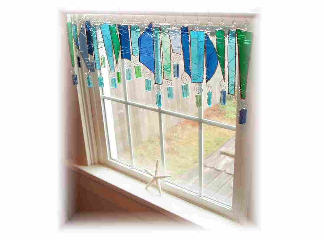 shardonay stained glass window treatment valance curtain