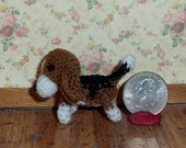 Miniature Beagle Thread Artist Crochet Ready to Ship