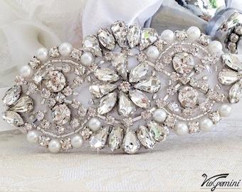 Crystal Bridal Bracelet, Bridal Jewelry, Rhinestone Bracelet, Wedding Bracelet, Beaded Crystal Bridal Bracelet, Bridal Accessories