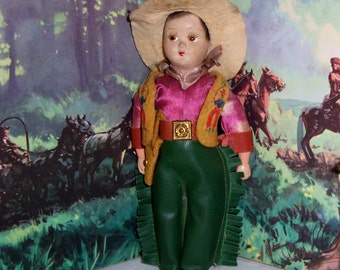 Vintage Cowboy / Cowboy Doll / Vintage 40's /Collectible Dolls/ Toy/ Figural/ On Sale!
