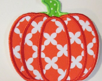 Iron On Applique - Halloween Pumpkin