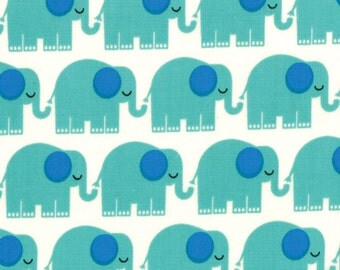 "Bungle Jungle Elephant Fabric - 25"" x 44"" - Moda - Tim and Beck"